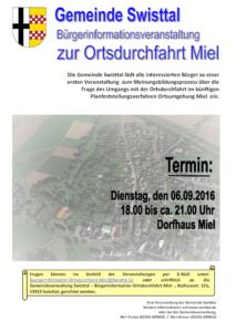 Plakat Bürgerinfoveranstaltung